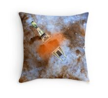 Cruiser/fighter passing through a time warp - all products Throw Pillow