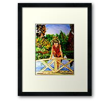 Thinkin' on the Bridge Framed Print