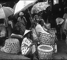 Women preparing for Market Denpasar by Damian McGrath