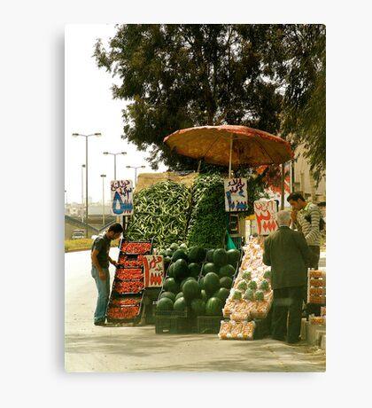fruit vendor Canvas Print