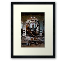 Charcoal, Collapse & Color Framed Print