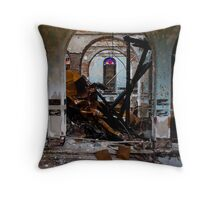 Charcoal, Collapse & Color Throw Pillow