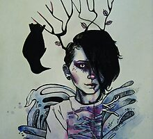 Crow girl  by Keltsat