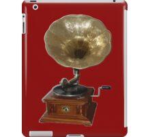 gramophone t-shirt iPad Case/Skin