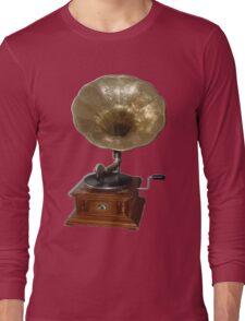 gramophone t-shirt Long Sleeve T-Shirt
