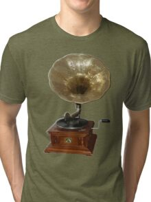 gramophone t-shirt Tri-blend T-Shirt