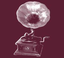 gramophone t-shirt on dark by parko
