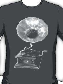 gramophone t-shirt on dark T-Shirt