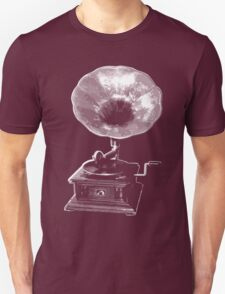 gramophone t-shirt on dark Unisex T-Shirt