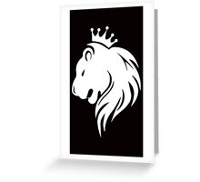 King White Greeting Card