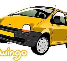 Renault Twingo yellow by car2oonz