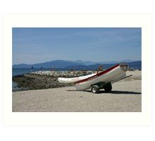 Lifeboat On Beach Art Print
