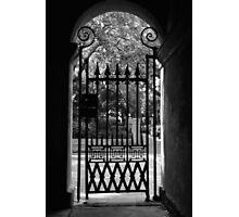 College of Charleston Gate View Photographic Print