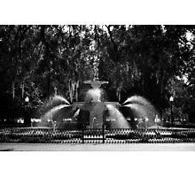 Savannah Fountain #2, Georgia Photographic Print