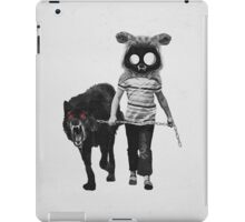 out for a walk (black and white) iPad Case/Skin
