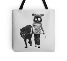out for a walk (black and white) Tote Bag