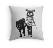 out for a walk (black and white) Throw Pillow