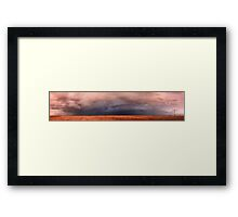 The opposite side of the sunset, 1 December 2011, Free State, South Africa  Framed Print