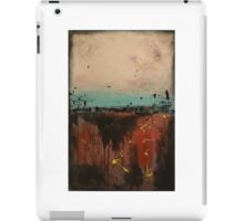 """red black cream blue painting - rothko style - """"Guts over fear"""""""" by Veronica Vilsan 35x24"""" Canvas art paintings FREE Shipping iPad Case/Skin"""