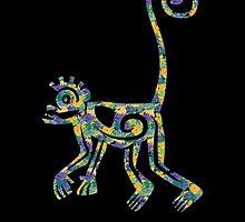 Mayan Floral Monkey by allenamin