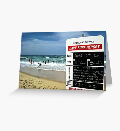 Surf Report Greeting Card