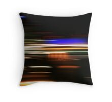 Midnight Blur Throw Pillow
