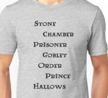 Harry Potter books Unisex T-Shirt