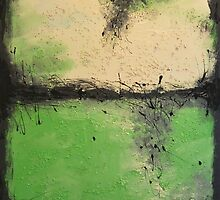 Green Painting, Nature Painting- Wall Decor -Greenville by VilsanArt 35x24inch(90x60) Free Shipping by Veronica  Vilsan