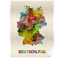 Germany Watercolor Map (Deutschland) Poster