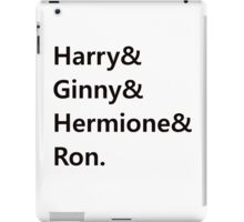 Harry & Ginny & Hermione & Ron iPad Case/Skin