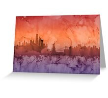 Buffalo New York Skyline Greeting Card