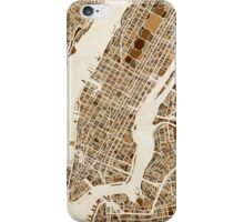 New York City Street Map iPhone Case/Skin