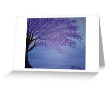 Jacaranda Blue Greeting Card