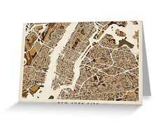New York City Street Map Greeting Card