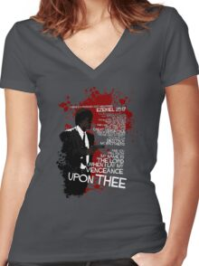 Movie Quote with-a-gun 4 PULP FICTION Women's Fitted V-Neck T-Shirt