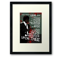 Movie Quote with-a-gun 4 PULP FICTION Framed Print