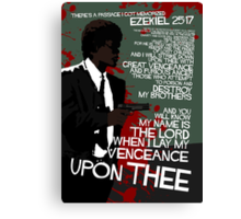 Movie Quote with-a-gun 4 PULP FICTION Canvas Print