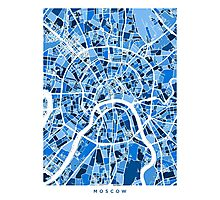 Moscow City Street Map Photographic Print
