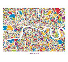 London England Street Map Photographic Print