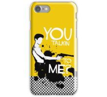 Movie Quote with-a-gun 1 TAXI DRIVER iPhone Case/Skin