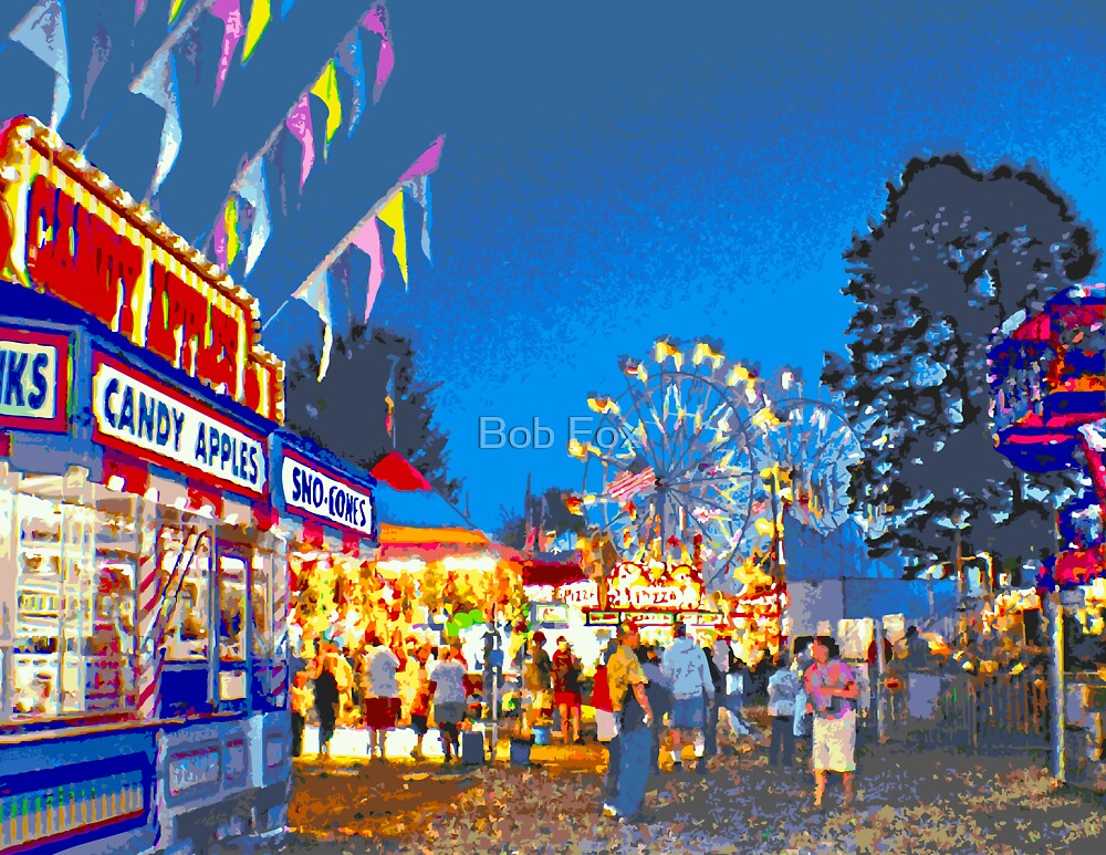 Quot Carnival Midway At Twilight Quot By Bob Fox Redbubble