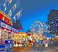 Carnival Midway at Twilight by Bob Fox