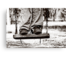 on the swing Canvas Print