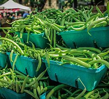 Mountain of Green Beans by Nicole Petegorsky