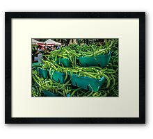 Mountain of Green Beans Framed Print