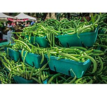 Mountain of Green Beans Photographic Print