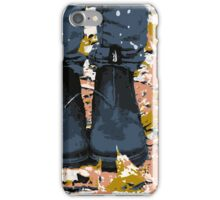 Boots in the Autumn Leaves  iPhone Case/Skin