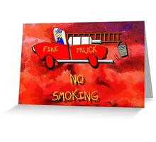 Red Fire Truck - all products Greeting Card