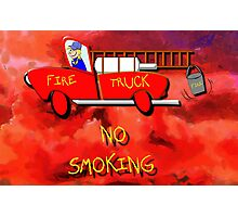 Red Fire Truck Photographic Print