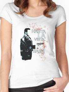 Movie Quote with-a-gun 3 TERMINATOR Women's Fitted Scoop T-Shirt